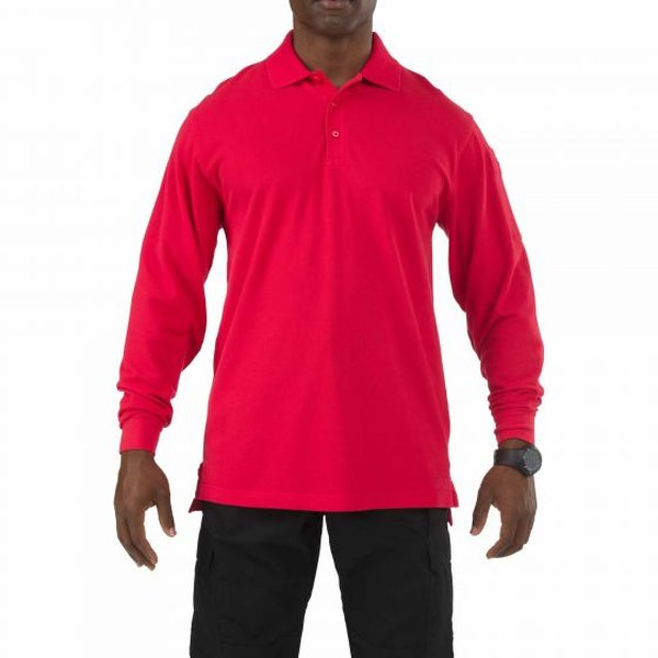 5.11 Tactical Professional Polo - Long Sleeve Red XL