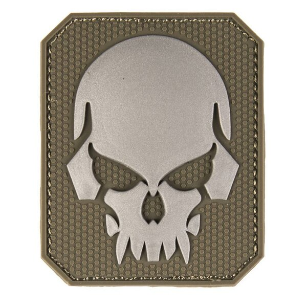 3D Skull PVC Rubber Patch