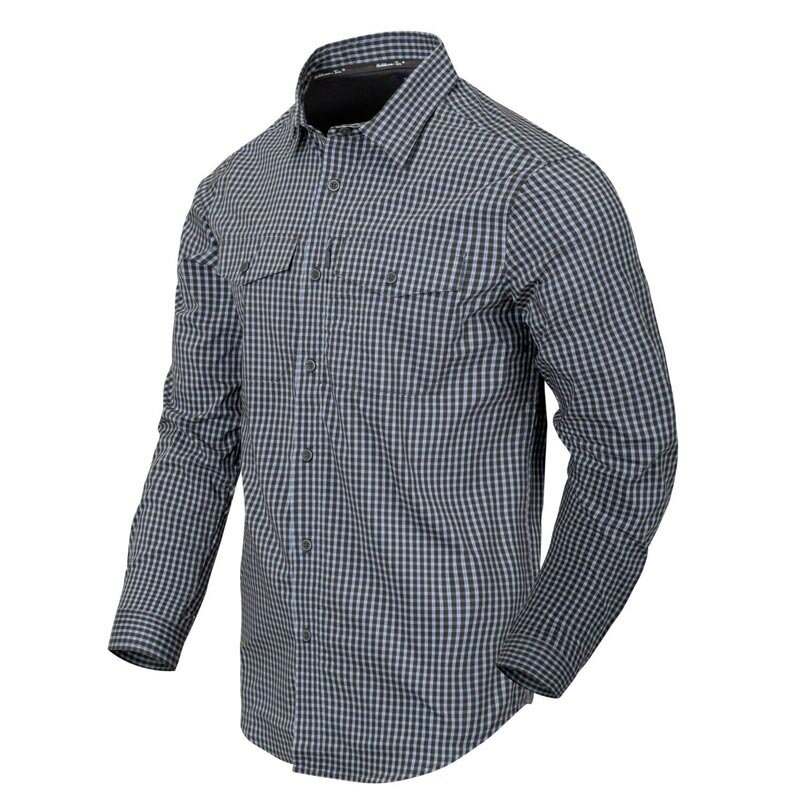 Helikon-Tex Covert Concealed Carry Langarmhemd Phantom Grey Checkered XL