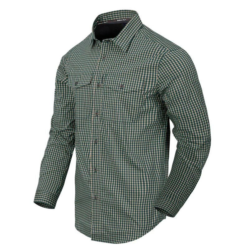 Helikon-Tex Covert Concealed Carry Langarmhemd Savage Green Checkered 2XL